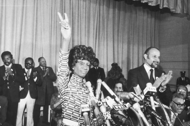 Shirley Chisholm of Brooklyn announces her entry for Democratic nomination for the presidency